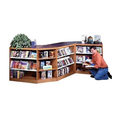 Brodart Design-Flex Serpentine Shelving with Steel Media Shelves