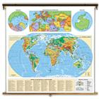 Image of George F. Cram Physical-Political Wall Map - World