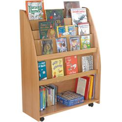 Brodart KidSpace Mobile Tall Book Display with Storage