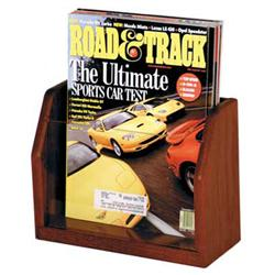 Wooden Mallet One-Magazine Acrylic Displayer