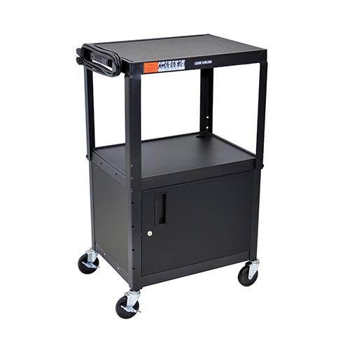 Luxor® Adjustable-Height Equipment Table with Cabinet