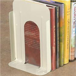 Brodart Large Non-Losable Metal Book Supports with Rubber Cork Base