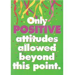 Trend Enterprises Only Positive Attitudes... Poster