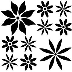Brodart Flowers Vinyl Wall Art