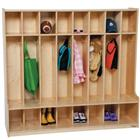 Image of Wood Designs™ Eight-Section Seat Lockers