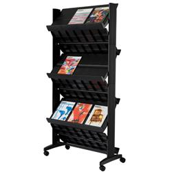 Paperflow easyDisplays® Six-Shelf Mobile Corner Displayer