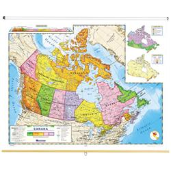 Nystrom Political Relief Map Of Canada - Relief map of canada