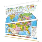 Image of Nystrom Political Relief United States/World Map Combo