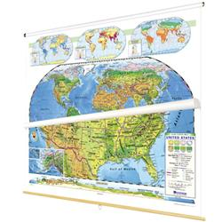 Nystrom Land Cover United States/World Map Combo