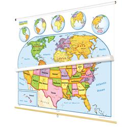 Nystrom Early Learner United States/World Map Combo