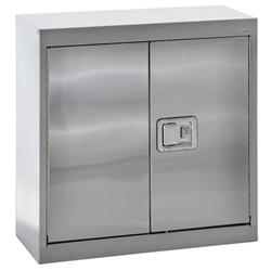 Sandusky Lee® Stainless Steel Wall Cabinet with Paddle Lock