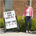 Image of Swinger® Rolling Sidewalk Message Sign