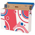 Image of File n Save System® Red/White/Blue Bulletin Board Storage Box
