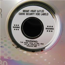CD/DVD Ownership Void Labels