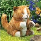 Image of Folkmanis® Orange Tabby Kitten Hand Puppet
