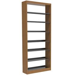 Brodart Reprise Laminate Single-Faced Bookstop Metal Shelving