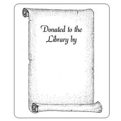 "Brodart Acid-Free Bookplates with Scroll Design and ""Donated"" Text"