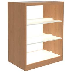 Reprise Double-Faced Book Stop Laminate Shelving
