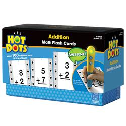 Hot Dots Addition, 0-9 Flash Cards (For Ages 5-7)