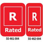 Image of R-Rated Media Rating Labels