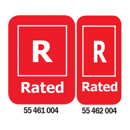 R-Rated Media Rating Labels