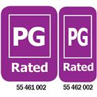 Image of PG-Rated Media Rating Labels