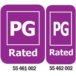 PG-Rated Media Rating Labels