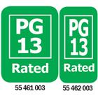 Image of PG-13 Rated Media Rating Labels