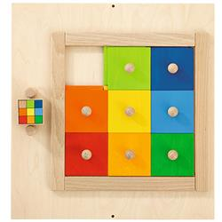 HABA Colorful Squares Sensory Wall Activity Panel