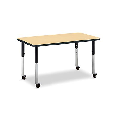 Jonti-Craft Berries® Mobile Rectangular Adjustable Height Activity Tables