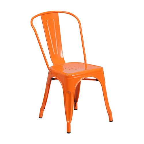 Flash Furniture Metal Indoor/Outdoor Chair With Back