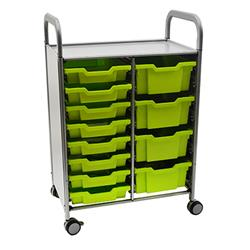 Gratnells Callero Storage Cart with Trays (8 Shallow, 4 Deep)