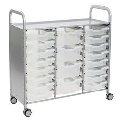 Gratnells Callero Storage Cart with Trays (16 Shallow, 4 Deep)