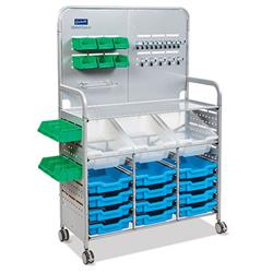 Gratnells Maker Cart with Trays (12 Shallow, 3 Deep)