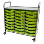 Image of Gratnells Callero Storage Cart with Shallow Trays (24)