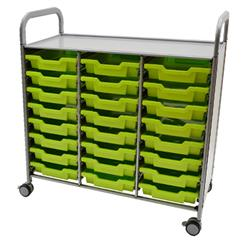 Gratnells Callero Storage Cart with Shallow Trays (24)