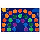 Image of Carpets for Kids Rainbow Seating Rugs