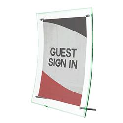 Deflecto Superior Image® Curved Sign Holder