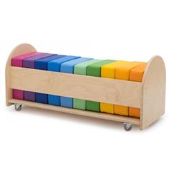 Gressco Rainbow Square Reading Seat Cushion Set with Rolling Rack