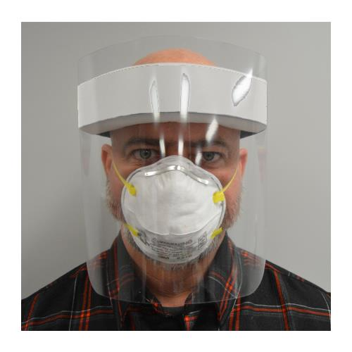 Protective Large Shield Face Shields, 25, 50, 100 or 500 Pack