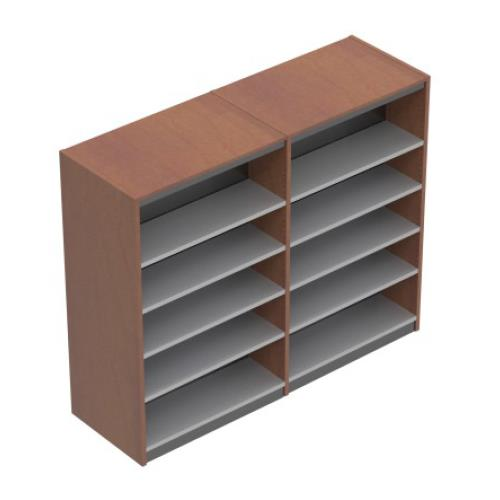 Brodart Geometrix Two-Bay Double-Faced Mobile Shelving Unit