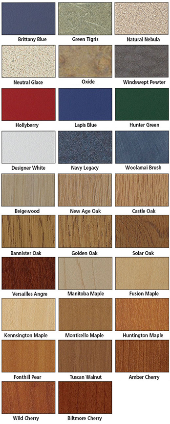 Brodart Laminate Colors