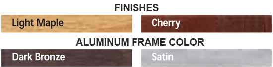 Finish & Frame Color