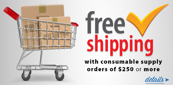 Save with Free Shipping with Supply Orders of $250 or More!  Some Exclusions apply. Offer Ends 01/29/2017