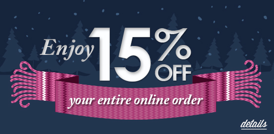 Save 15% on Everything!   Offer Ends 01/28/2018