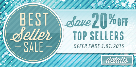 Save 20% OFF Best Seller Sale Category! Expires 03/01/2015