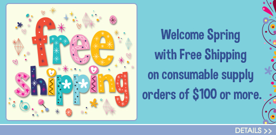 Save with Free Shipping with Supply Orders of $100 or More!  Some Exclusions apply. Offer Ends 3/21/2021