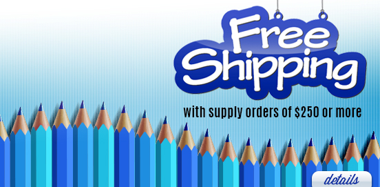 Save with Free Shipping with Supply Orders of $250 or More!  Some Exclusions apply. Offer Ends 04/09/2017