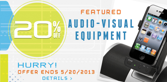 Save 20% On Select Audio Visual Equipment!