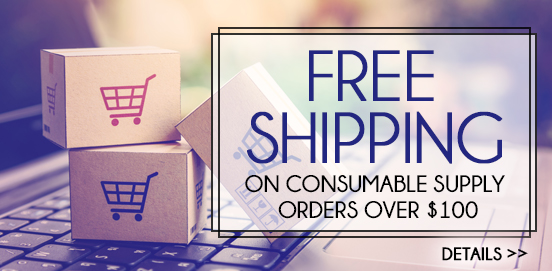 Save with Free Shipping with Supply Orders of $100 or More!  Some Exclusions apply. Offer Ends 8/15/2021